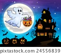 Halloween ghost near haunted house 2 24556839