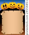 Parchment with Halloween pumpkins 1 24556851