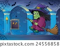 Witch on broom theme image 6 24556858