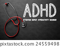 ADHD Concept on Chalkboard. 3D Illustration. 24559498