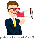 Businessman Megaphone 24559870