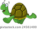 turtle walking cartoon 24561400
