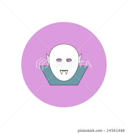 Vector illustration in flat design Halloween icon 24561486