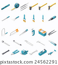 Building hand tools icon set 24562291