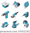 Construction electric tools icon set 24562292