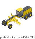 Motor grader icon 24562293
