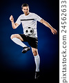 soccer player man isolated 24562633