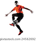 Soccer player Man Isolated silhouette 24562692