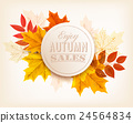 Autumn sales banner. Vector. 24564834