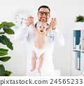 Doctor pediatrician massage therapist with baby child 24565233