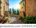 Small Mediterranean town - lovely Tuscan stree 24565619
