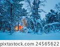 winter, snow, cottage 24565622