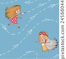 plane girl person 24566044