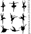 silhouettes of ballerinas 24566073