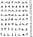 silhouettes of yoga 24566077