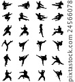silhouettes of karate 24566078
