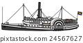 Vintage paddle steamer 24567627