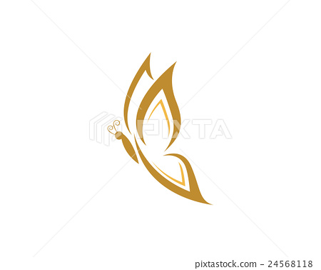 beauty butterfly logo template vector icon design stock