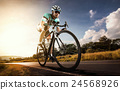 Asian men are cycling road bike in the morning 24568926