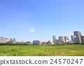 建築工地 藍天 空置土地 24570247
