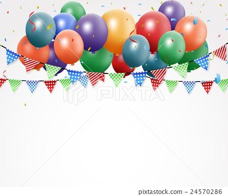 Birthday celebration design with balloon 24570286