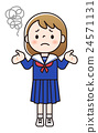Girls' junior high school students - give up 24571131