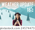 Weather Update Temperature Forecast News Meteorology Concept 24574473