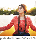Girl Adventure Boat Trip Traveling Holiday Photography Concept 24575176