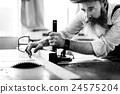 Carpenter Craftmanship Carpentry Handicraft Wooden Workshop Concept 24575204