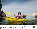 Kayaking Fun Activity Holiday Recreation Concept 24578485