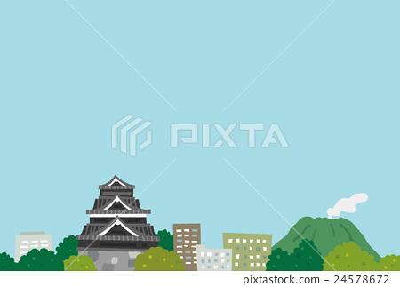 城堡和城鎮景觀 24578672
