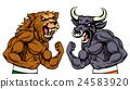 Bears Versus Bulls Stock Market Concept 24583920