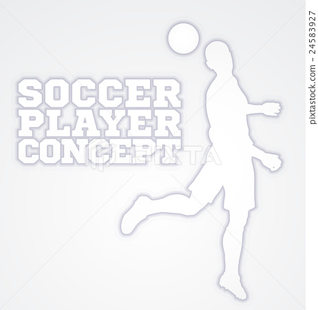 Heading Soccer Football Player Concept Silhouette 24583927