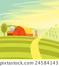 landscape, farm, meadow 24584143