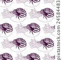 seamless pattern made of Nautilus Pompilius 24584483