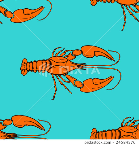 seamless pattern made from orange cancer 24584576