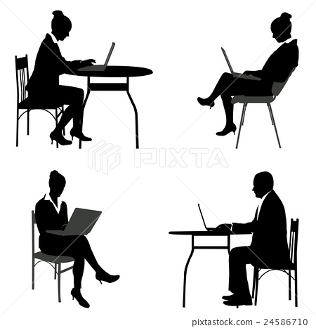 business people working on their laptops  24586710