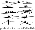 rowing silhouettes 24587466