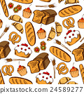Bakery and pastry seamless background 24589277