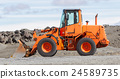 Large orange bulldozer 24589735