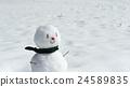 雪人 冬天 咧嘴笑 24589835