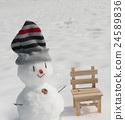 雪人 冬 冬天 24589836