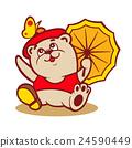 Fashionable little bear sign 24590449