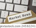 Index Card Market News. 3D Rendering. 24592241