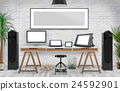 Desktop Mockup, 3D illustration 24592901