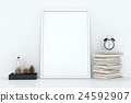 Blank frames against the wall 24592907