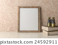 Blank Picture frame on the wall 24592911