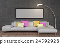 Mock up poster with big sofa 24592928