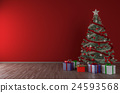 Christmas tree interior mock up 24593568