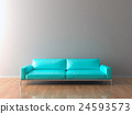Blank Wall in empty room with sofa 24593573